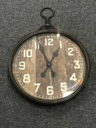 Midwest CBK Round Rusted Loop Wall Clock 135095 New