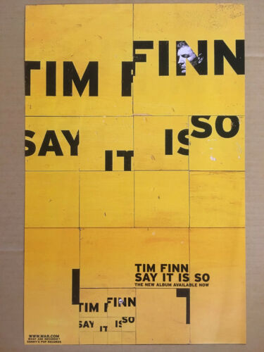 Crowded House TIM FINN 1999 DOUBLE SIDED PROMO POSTER for Say it CD USA MINT