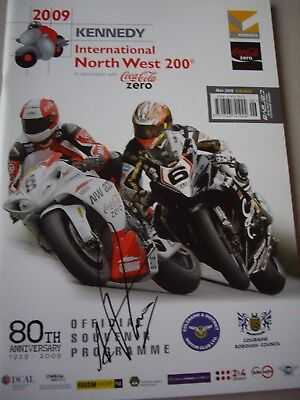 Multi signed 2009 North West Anniversary programme, Guy Martin, Plater, Read etc