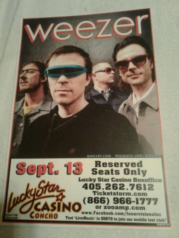 Concert / Gig Poster WEEZER Alternative Rock 2013 Lucky Star Casino Okahoma