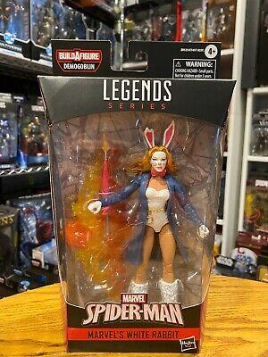 "Spider-Man Hasbro Marvel Legends Series 6"" Action Figure Marvel's White Rabbit"