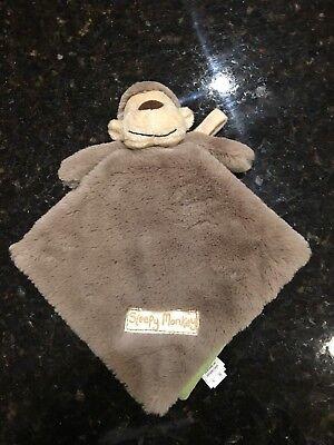 Little Jellycat Sleepy Monkey Plush Cloth Fabric Book Baby Toy Storybook