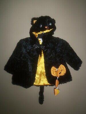 Baby Boo Costume (GRUND BABY SPOOKY BOO-TIQUE BLACK CAT COAT JACKET HOOD HALLOWEEN COSTUME 9 18)