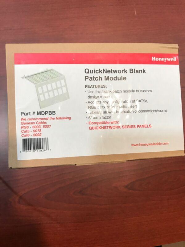 Honeywell QuickNetwork Blank Patch Module # MDPBB