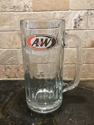 "A&W Root Beer Vintage Glass Mug 7"" Tall - Great Condition!!"