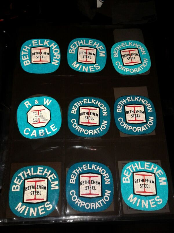 COAL MINING STICKER, RARE BETHLEHEM MINE STICKERS 55 STICKERS TOTAL WITH 1 SET.