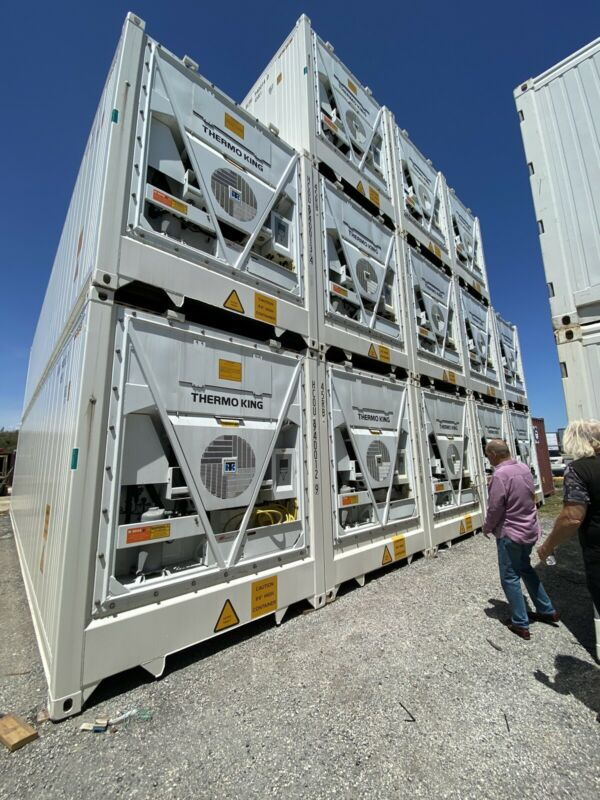 40 Below Freezer Container Compact Mobile Cold Storage -40°C Reefer Container