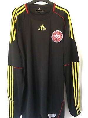 2010/2011 Denmark goalkeeper football shirt XL men's Adidas BNWT rare Danmark image