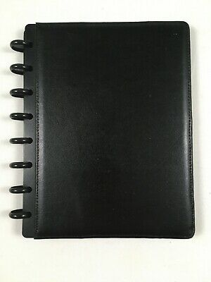 Black Leather Arc Notebook Small 9x7 With Dividers