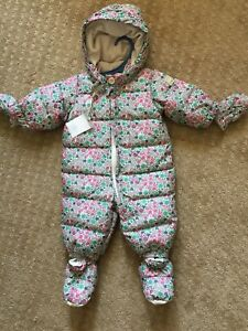 0-6m Girls Gap down filled snowsuit NWT