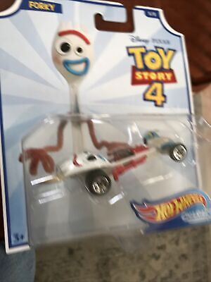 Toy Story Hot Wheels 4 Character Car Forky FREE SHIPPING
