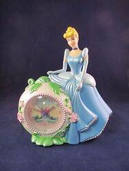 Vtg 1994 Disney Cinderella Alarm Clock Coin Savings Bank WORKS EUC