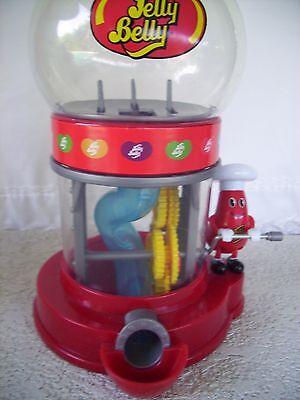 Jelly Belly Dispenser/Gumball Machine 2012 w/Plastic Globe Unique crank-no coin