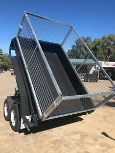 8x5 Electric Tipper Tandem Caged Trailer (Australian Made)
