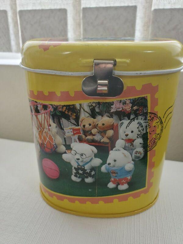 Bear Tin Piggy Bank Can latch