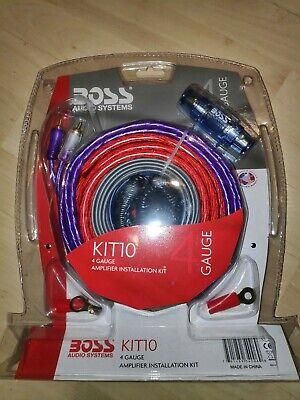 Boss Audio Kit (BOSS AUDIO KIT-10 4 Gauge 5,19 mm Auto Installations-Set Verstärker Endstufe...)