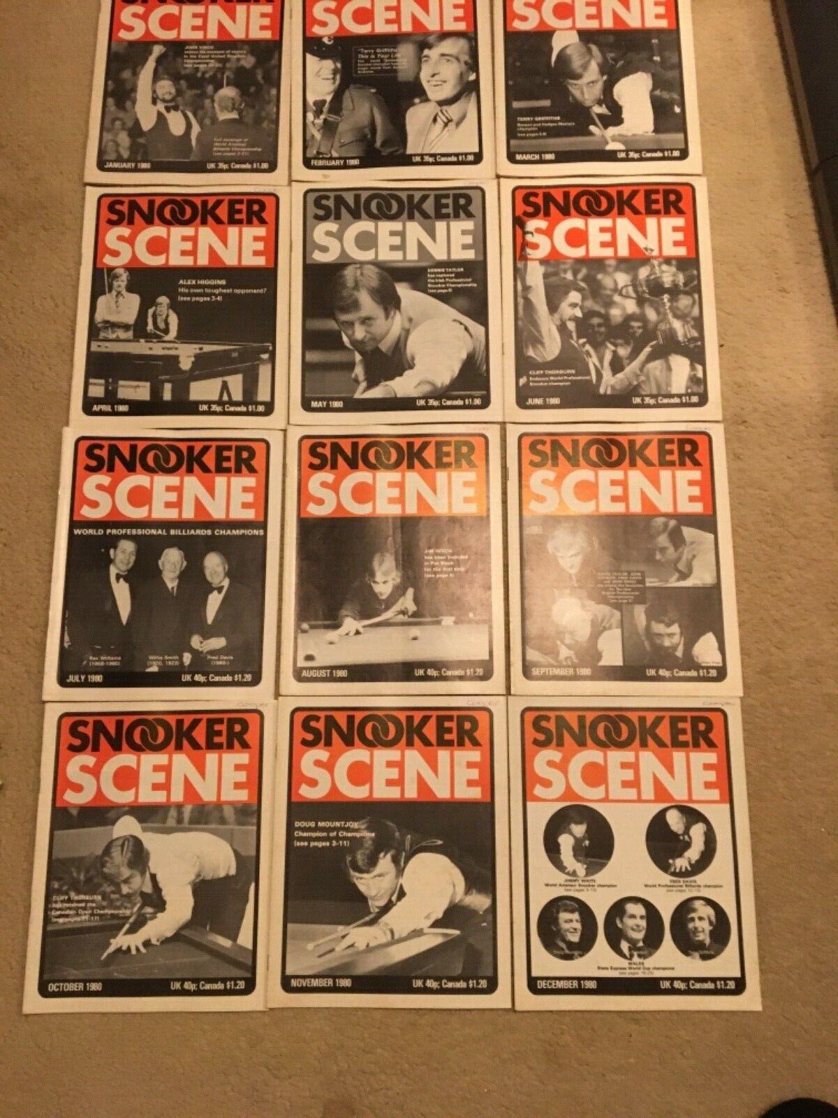 1980 Snooker  Scene Magazine, complete year,  Good Condition.