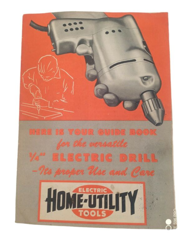 Vintage Home Utility Electric Tools Small Guide Book Black & Decker Mfg. Co.