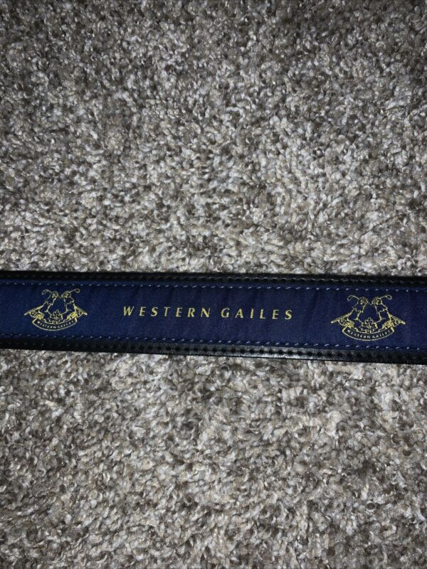 Western Gailes Golf Belt - Ribbon Material - Black/Blue - Used- 34