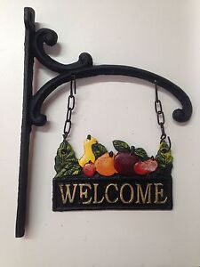 Cast Iron Fruit Welcome Sign North Strathfield Canada Bay Area Preview