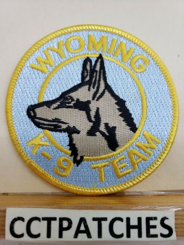 WYOMING, MICHIGAN POLICE K-9 TEAM SHOULDER PATCH MI