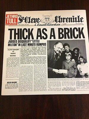 Jethro Tull - Thick As A Brick - LP - (Vinyl) - 1972, usado comprar usado  Enviando para Brazil