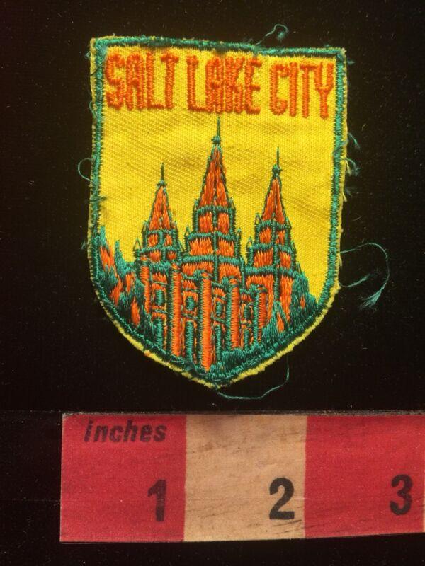 Vtg Utah Salt Lake City Patch - Salt Lake Temple Latter Day Saints Morman 81T