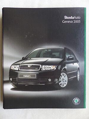 Skoda Octavia Fabia RS Superb Motorsport - Pressemappe press-kit 2003 englisch