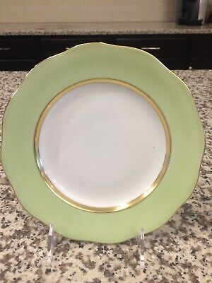 Herend Silk Ribbon Dessert Plate New Lime