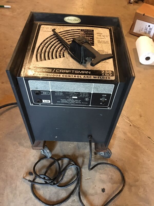 Sears Craftsman 230 AMP Continuous Control ARC Welder Model 113.201331