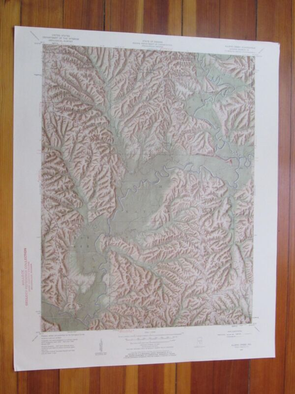 Allens Creek Indiana 1959 Original Vintage USGS Topo Map