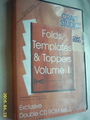 MY CRAFT STUDIO FOLDS, TEMPLATES & TOPPERS VOLUME 1 DOUBLE CD ROM