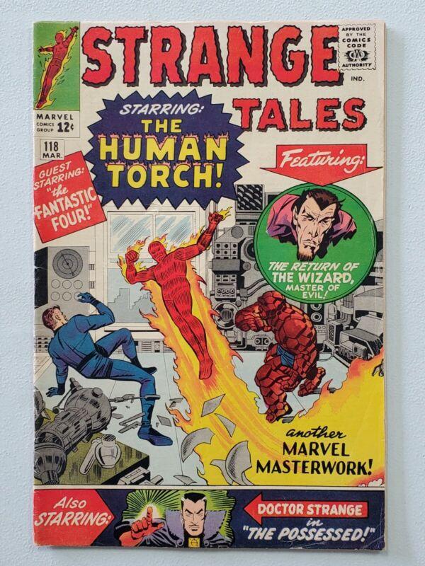 Strange Tales 118  3/64 1st cover appearance of Dr Strange!