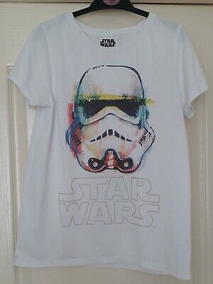 Boys Next white T-shirt with Star Wars logo and Stormtrooper print age 13 years