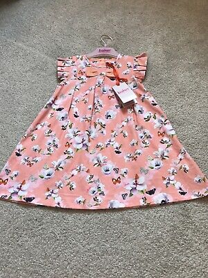 New Baby Girl Ted Baker Summer Peach Floral Dress 18-24 Months BNWT 🎀