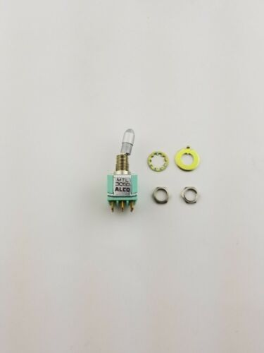 New Alco MTL306D 3PDT ON-ON,  Panel Mount Locking Toggle Switch 6A 125V,