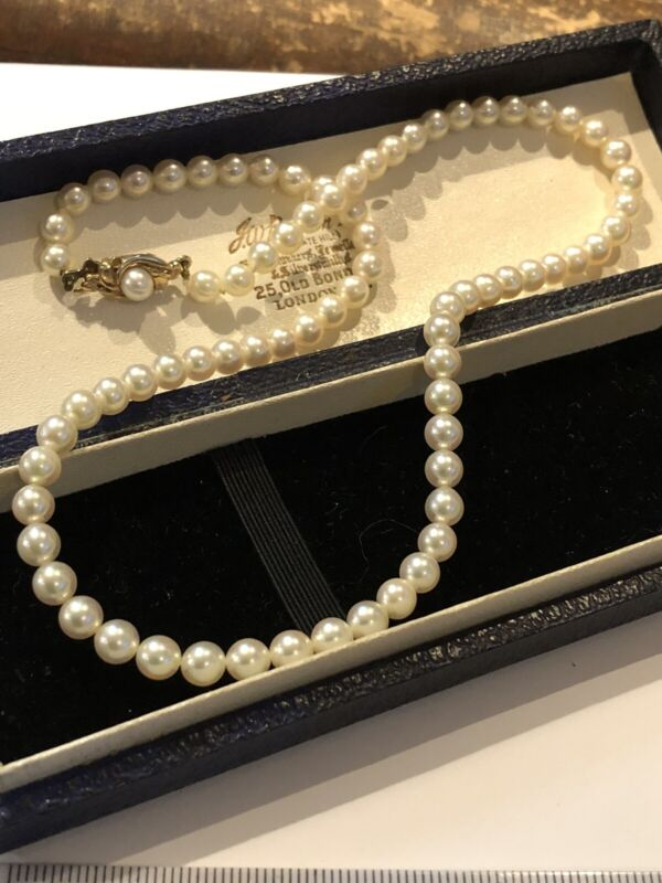 Vintage 9ct Gold Cultured Pearl Necklace