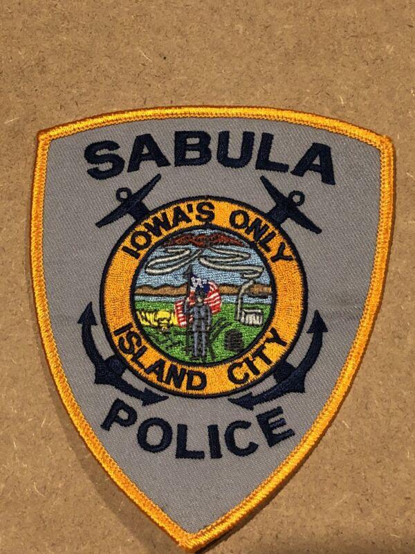 RARE SABULA IOWAS ONLY ISLAND CITY POLICE PATCH