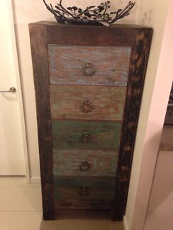 Handcrafted solid timber Tall-Boy Hamilton Brisbane North East Preview