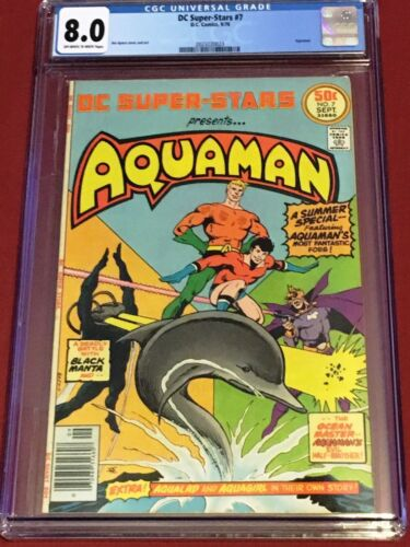 DC SUPER STARS 7 CGC 8.0 Aquaman Jim Aparo 1976