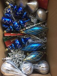 Christmas decorations- 30+ pieces (some new)