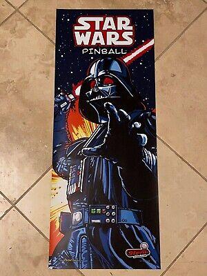 Star Wars Comic Darth Vader Stern Pinball Vinyl Banner 13x33 Inches