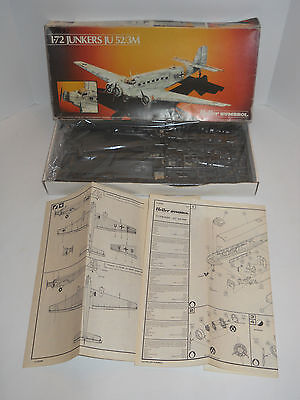 Junkers JU 52/3M Model Kit 80380 Heller Humbrol 1984 ~ Unbuilt German Airplane