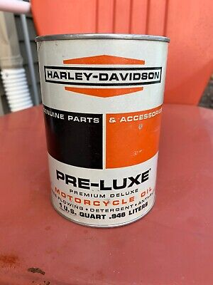 Vintage Harley Davidson Pre-Luxe Oil Quart Full Very Nice