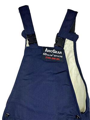 Arcgear Steel Grip 40cal Ag40b Medium Bib Overall Electric Arc Pants Welding