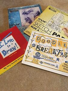 Art drawing books plus drawing and sketch pads