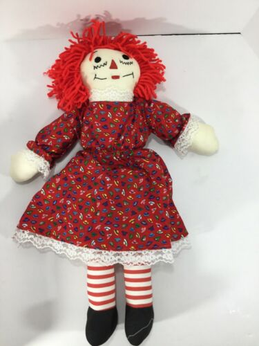 Raggedy Ann Doll. Rag Doll/ Plush 19 Red Dress With Hats - $10.00