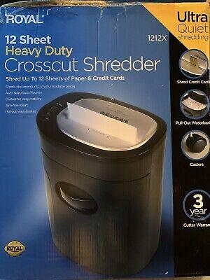 Royal 12 Sheet Paper Shredder Cross Cut 1200x Heavy Duty Ultra Quiet