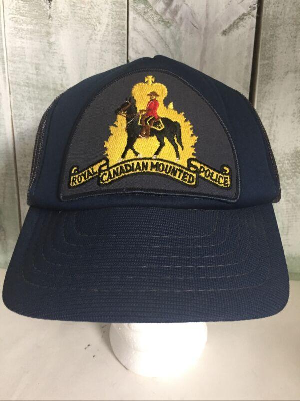 Vintage Royal Canadian Mounted Police Trucker Hat
