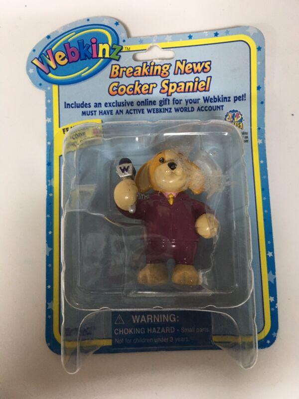 WEBKINZ  Breaking News Cocker Spaniel   figure   Series 2   Ganz NIB